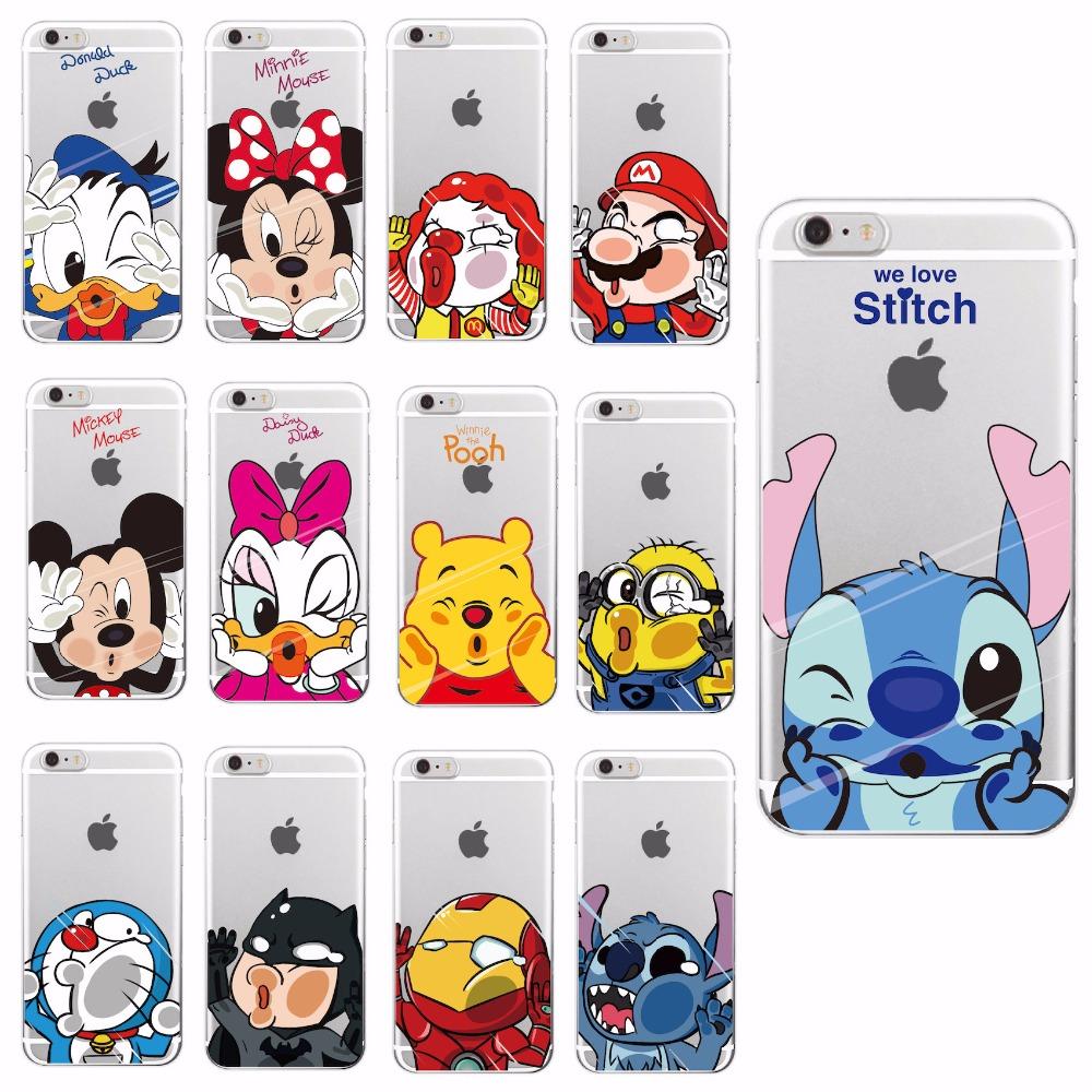 Funny Cartoon Soft Case For Apple iPhone 4 5 6 7 S Plus SE 5C – YAHOSHOP 88d72adf5162