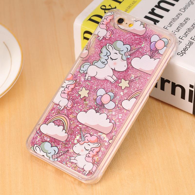 brand new 3e56d 3d304 Case Cover Lovely Unicorn Dynamic Liquid Bling
