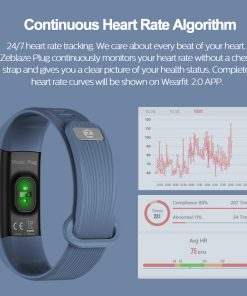Smart Wristband Continuous Heart Rate Monitor Fitness